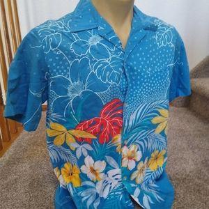 Vintage Malihini Hawaii Cotton Hawaiian Shirt